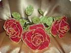 Поделка, изделие Бисероплетение: розы Бисер.  Фото 1.