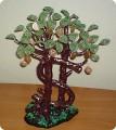 Поделка, изделие Бисероплетение: денежное дерево Бисер.