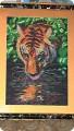Картина панно рисунок Новый год Вышивка тигр Бисер.