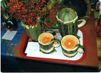 Поделки из тыквы чайный сервиз
