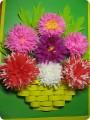 Аппликации цветов из гофрированной бумаги своими руками 32