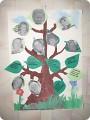 Стенгазета День семьи Аппликация Наше генеалогическое древо Бумага.