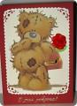 Открытка Аппликация, Квиллинг: Медвежонок Тедди Бумага День рождения.