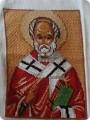 Вышивка крестом - Икона Николай Чудотворец.
