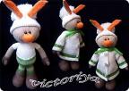 Игрушка Вязание спицами: Зайка :) Пряжа.  Идеальный подарок для...
