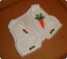 Украшение Новый год Шитьё Морковка для зайчика Бисер фото 1.