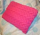 Поделка, изделие Шитьё: Подушка с буфами из флиса Ткань.
