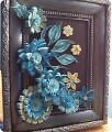 Картина панно рисунок Квиллинг Голубые цветочки Бумага.