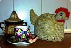 Вязание крючком - Курочка Грелка на чайник.