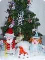Поделка, изделие.  Дед мороз и Снегурочка.  2 комментария.  Бисер.  Поделиться ссылочкой.  Событие.