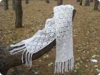 """На нашем женском сайте  """"Дамочка """" Вы в любой момент найдете новость - вязание шарфа из мохера, с фотографиями, видео и..."""