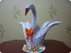 Поделка, изделие Оригами модульное: Лебедушка Бумага.