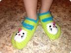 Вязание носков следков тапочек