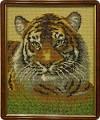 Вышивка - Тигр бисером.