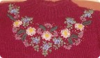 Гардероб Вышивка, Вязание спицами: Вышивка на детском свитере Пряжа.