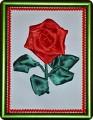 Простая вышивка цветов лентой