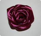 Поделка, изделие Шитьё: Роза - брошь Ленты День рождения.