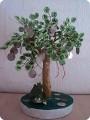 Поделка изделие День рождения Бисероплетение Денежное дерево Бисер.
