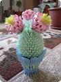 Модульное оригами - Модульный кактус.