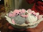 Игрушка Вязание крючком: Мои вязаные мышки Нитки...