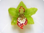 Поделка изделие Бисероплетение Орхидея цветок из бисера Бисер фото 1.