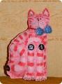 Игрушка, Поделка, изделие Шитьё: Креативный Тильда-кот 2 Краска, Нитки...