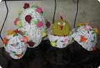 Плетение яиц из бумаги