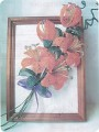 Вам понадобится совсем немного - яркий бисер, проволока, немножко терпения.  Лилии на панно - цветы лета...