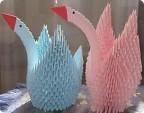 Поделки из оригами из модулей на день рождения