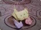 Котята оригами.