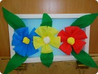 Аппликации цветов из гофрированной бумаги своими руками 81