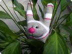 Игрушка Шитьё: Заяц из носка Носки.  Фото 1.