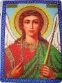 Картина, рисунок, панно Вышивка: ангел хранитель Бисер.  Фото 1.