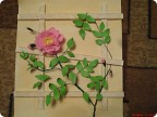 Картина панно рисунок Бумагопластика Цветущий шиповник Бумага.