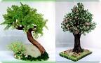 2. Техника: Бисероплетение 1. Здесь собран бисер сразу с двух деревьев (он самый крупный), это цветущая слива)) .