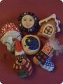 Вышивка крестом - , новогодняя СХЕМЫ некоторых игрушек.