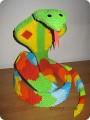 Поделка, изделие Оригами модульное: Змея Бумага День рождения.