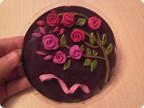 Как сделать розы из пластилина на картоне