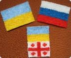 Как сделать российский флаг из ниток
