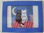 Кошки на крыше+схема Валентинов день День рождения День семьи Хорошее настроение.