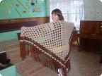 схемы вязания шалей крючком спицами.  Теплая шаль - вязание крючком на...