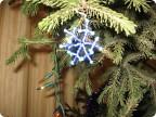 Поделка изделие Новый год Рождество Бисероплетение Маленькие снежинки из бисера Бисер Проволока фото 1.