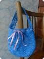 Вязание крючком - сумочка из мешков для мусора Не судите строго.