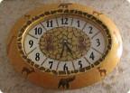 Декупаж - Часы Африка.