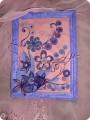 Картина панно рисунок Квиллинг Лилово-розовая фантазия Бумажные полосы фото 1.