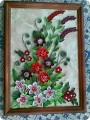 Картина панно рисунок Квиллинг Картинка для сестры Бумажные полосы фото 1.