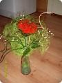 Поделка, изделие Бисероплетение: Ажурная роза Бисер, Нитки, Проволока.