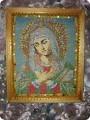 Картина панно рисунок Рождество Бисероплетение картина Икона Пресвятой Богородицы Бисер фото 1.