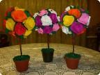 Поделка, изделие Бумагопластика: Розовые деревья Пенопласт.