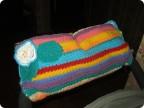 Украшение Вязание крючком: муфта на ручку коляски Пряжа.